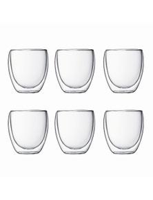 Bodum 250mL Pavina Small Double Wall Glass Set 6 Pack