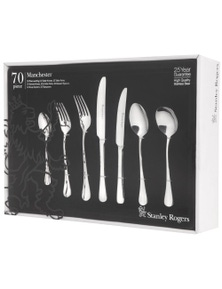 Stanley Rogers Manchester Cutlery Set 70 Piece Stainless Steel