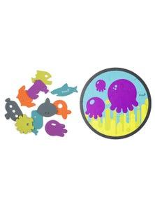 Boon 10pc Dive Bath Tub Appliques w/ 10pc Puzzle Foam Toy