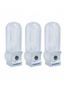 Sansai 7W Automatic Night Light 3PK