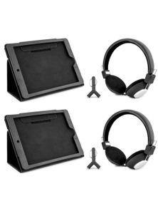 DGTEC Travel Entertainment Kit Headphones + Bonus iPad Case 2PK