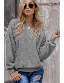 Gray Terry Thread Cashmere Sweatshirt