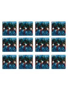 Maxwell & Williams Melanie Hava Jugaig-Bana-Wabu 10Cm Coaster Jabirus Blue 12Pk