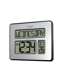 La Crosse Digital Back Light Wall Clock with Day Display 513-1419
