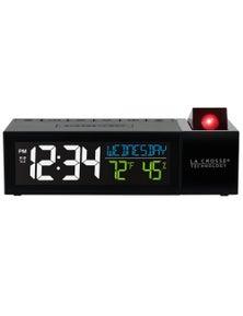La Crosse Pop-Up Bar Projection Alarm Clock w/ Temp Humidity 616-1950