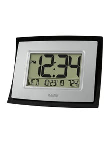 La Crosse Wall Clock with Indoor Temp and Calendar WT-8002U