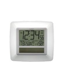 La Crosse Solar Digital Wall Clock w/ Indoor Tempe & Humidity WT-8112U