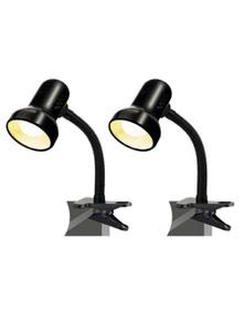Sansai Clip On Desk Lamp 2PK