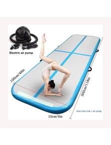 3M4m5m Inflatable Air Track Gymnastics Tumbling Mattress With Pump- Blue- 3Mx1Mx0.1M