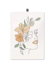 Jardin Canvas Simple Modern Wall Art Unframed Prints Home Decor- 30x40 cm- Style B