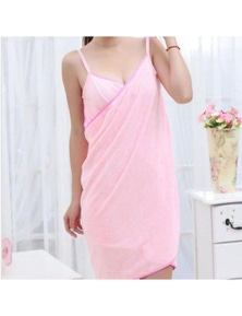 Pink Or Puple Bath Towel Dress Home Luxury Self-Care Relaxation- Pink
