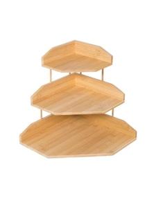 Bamboo Multi-Layer Corner Storage Desk Organizer Storage Rack- Standard