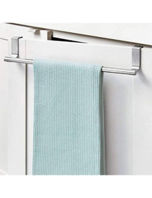 Towel Racks Over Door Stainless Steel Metal Tea Towel Hand Towel Rail Holder-L