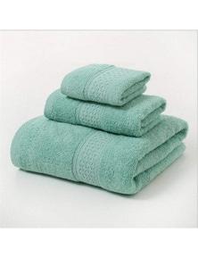Towels 3Pcs Soft Cotton Towel Set Lightweight Bath Towels- Green
