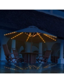 104Led Patio Umbrella Light String- Warm White