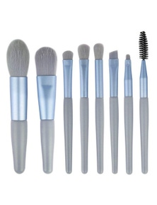 Makp Brushes Make Up 8Pcs Brush Set Foundation Blending Eyeshadow Eye- Blue