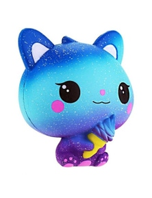 Stress Relief Squeeze Toys Kids- Blue And Pink Cat (Approx. 11cm)