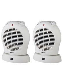 Heller 2000W Upright Oscillating Fan Heater 2PK