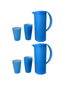 1.5L Frosted Plastic Jug280ml 8PK Cup Set 2PK