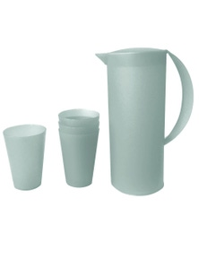 Frosted Plastic Jug280ml 4PK Cup Set 1.5L