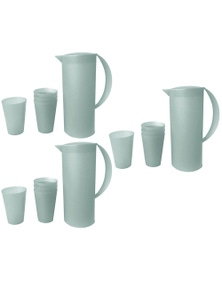 1.5L Frosted Plastic Jug280ml 12PK Cup Set 3PK