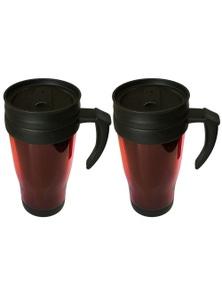 Plastic Travel Mug w/ Double Wall 2x 450ml