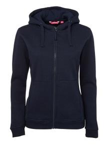 JB's Wear Ladies Full Zip Fleece Hoodie
