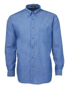 JB's Wear JB's Long Sleeve Indigo Chambray Shirt
