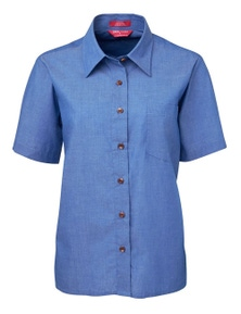 JB's Wear JB's Ladies Original Short Sleeve Indigo Chambray Shirt