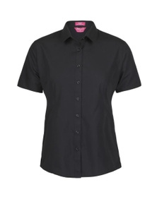 JB's Wear Ladies Classic Short Sleeve Poplin Shirt