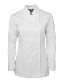 JB's Wear Ladies Long Sleeve Chef's Jacket