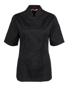 JB's Wear Ladies Short Sleeve Chef's Jacket