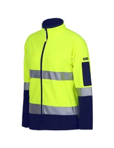 JB's Wear Ladies Hi Vis (D+N) Softshell Jacket with Reflective Tape