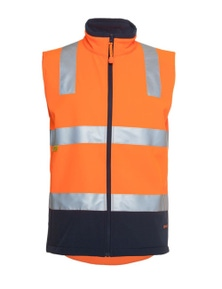 JB's Wear Hi Vis (D+N) Softshell Vest
