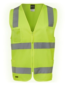 JB's Wear Hi Vis (D+N) Zip Safety Vest