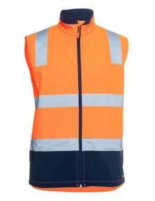 JB's Wear Hi Vis D+N Water Resistant Softshell Vest