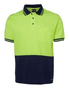 JB's Wear Hi Vis Short Sleeve Cotton Back Polo