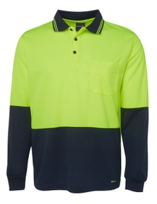 JB's Wear Hi Vis Long Sleeve Trad Polo