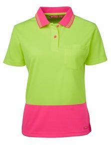 JB's Wear Ladies Hi Vis Short Sleeve Comfort Polo