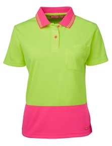 JB's Wear Ladies Hi Vis Short Sleeve Comfort Polo