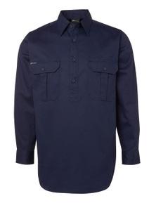 JB's Wear Long Sleeve 190G Close Front Work Shirt