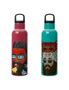 Maxwell & Williams Mulga The Artist Insulated Bottle Tiger Man & Dolphin Man Set 600Ml