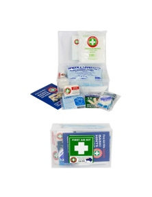 Compact Essential Safety First Aid Kit Medical Injury Treatment Home/Car 20Pc