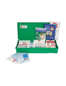 Emergency Medical First Aid Kit Injury Treatment Compact Case Work/Home 35Pc