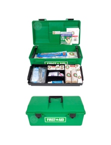 Emergency Medical First Aid Kit Portable Case/Handle Work/Office/Home/Car 48Pc