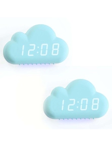 LED Display USB Cloud Shape Alarm Clock 2PK