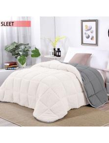 Ramesses Sherpa Fleece Reversible Comforter Set