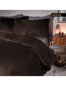 Ramesses Waffle Fleece Comforter Set