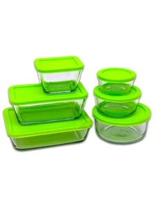Kitchen Classics 12-Piece Glass Storage Food Container Set with Lid 12 Piece