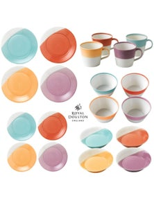 Royal Doulton 1815 Tableware 20-Piece Brights Dinner Bowl Mug Plate Set Of 20Pc